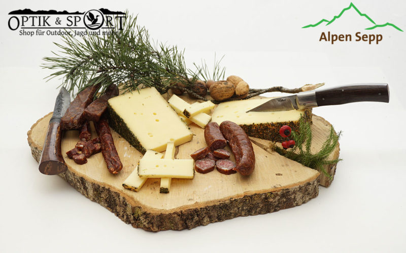 Jäger Tipp Alpen Sepp - Wildwurst und Käse