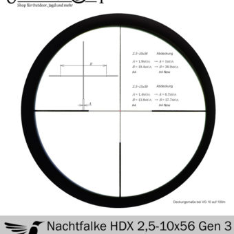 Zielfernrohr DDoptics Nachtfalke HDX 2,5-10×56 Gen 3