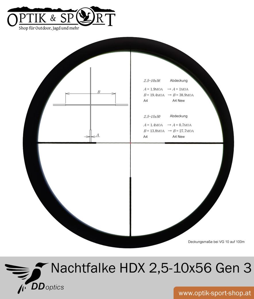 Zielfernrohr DDoptics Nachtfalke HDX 2,5-10x56 Gen 3