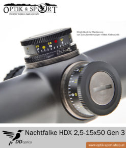 Zielfernrohr DDoptics Nachtfalke HDX 2,5-15×55 Gen 3