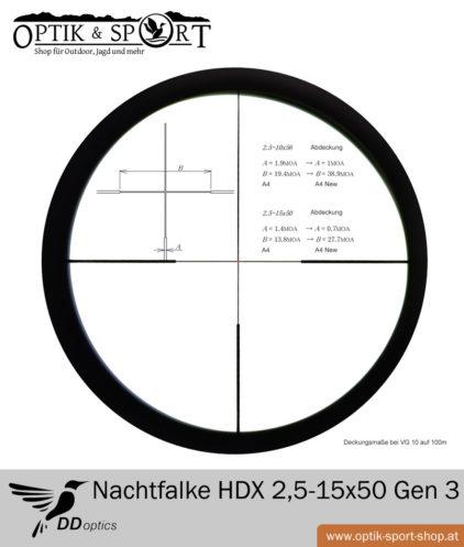Zielfernrohr DDoptics Nachtfalke HDX 2,5-15x55 Gen 3