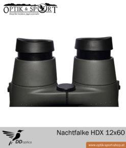 Fernglas DDoptics Nachtfalke 12×60 Detail Augenmuscheln