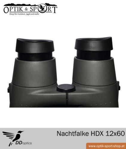 Fernglas DDoptics Nachtfalke 12x60 Detail Augenmuscheln