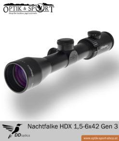 Fernglas DDoptics Nachtfalke HDX 1,5-6×42 Gen 3 Duplex Absehen