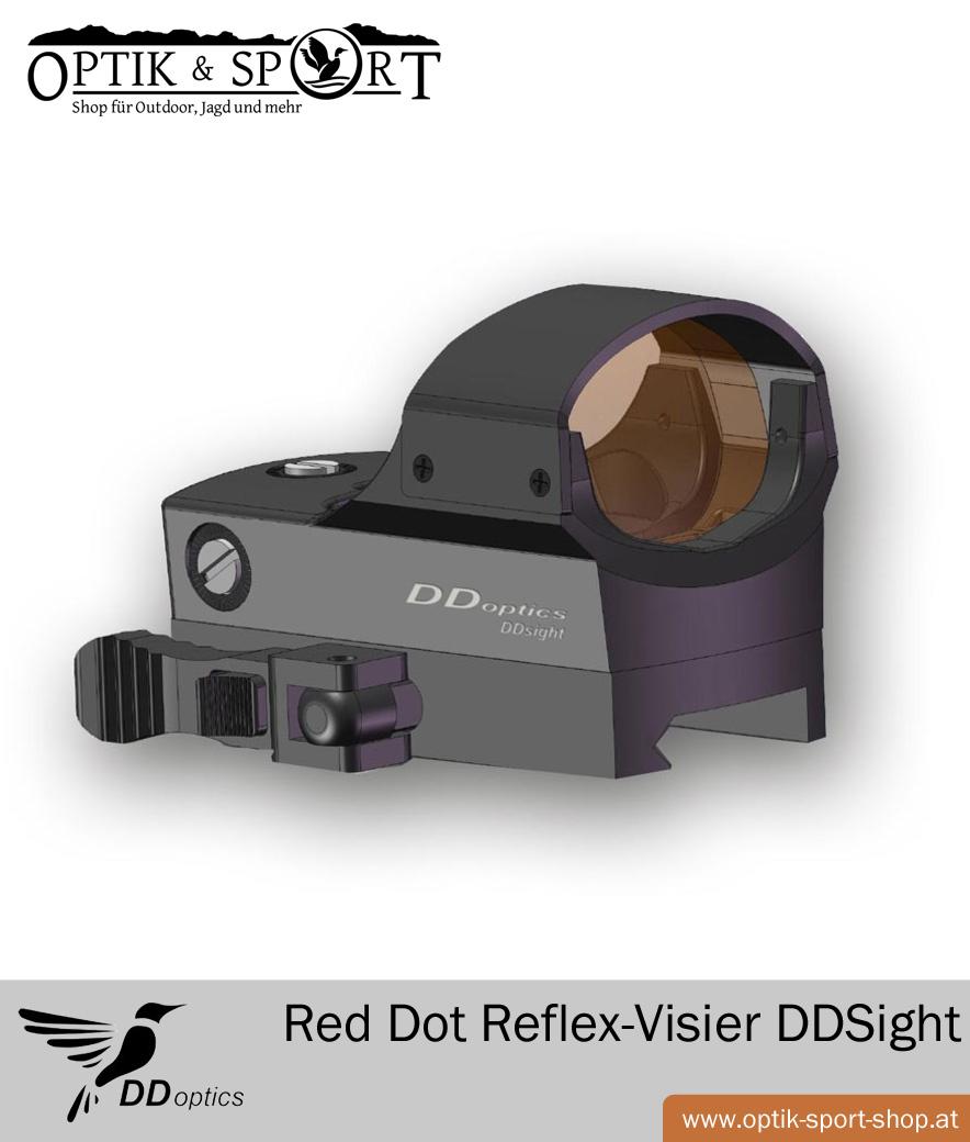 DDoptics Red Dot Reflex-Visier DDSight Zeichnung