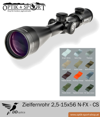 DDoptics Zielfernrohr 2,5-15x56 N FX Custom Style Set