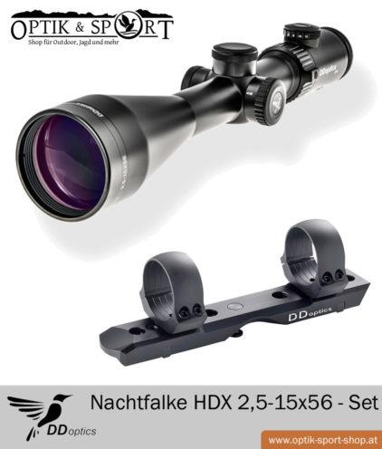 DDoptics 2,5-15x56 N FX Dentler Basis Montage