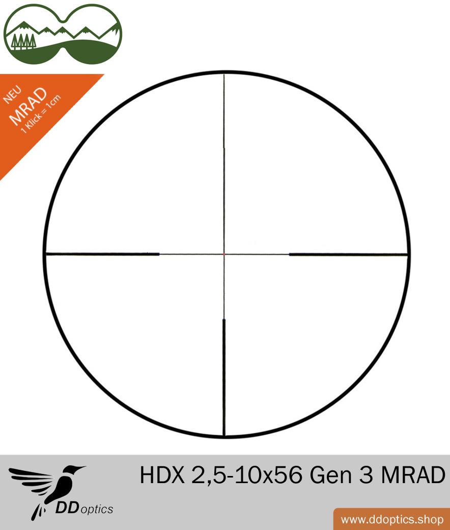 DDoptics 2,5-10x56 Gen 3 MRAD Klickverstellung
