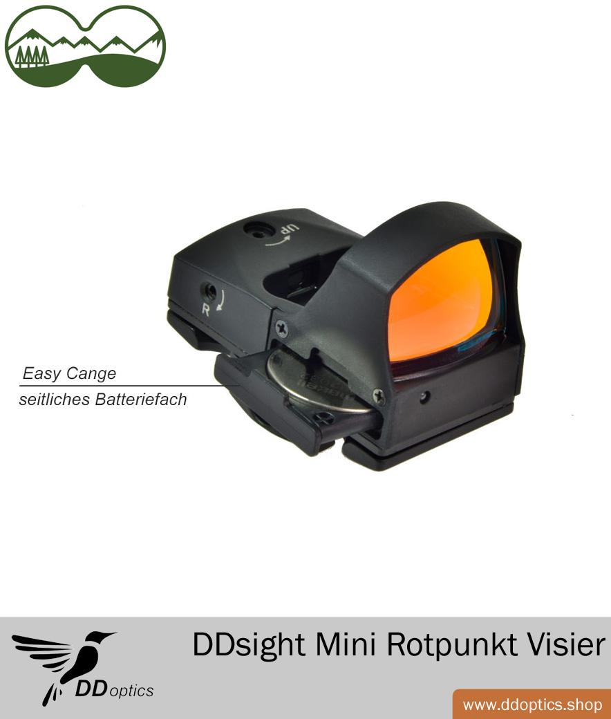DDoptics Red Dot Reflex-Visier DDSight Leuchtpunktvisier mit Schnellspannmontage