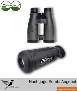 DDoptics Nachtjagdpaket 2 – Wärmebildkamera Nachtfalke IR50 + Fernglas Pirschler Gen. 3 8×56